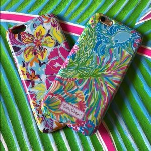 Two Lilly Pulitzer iPhone 6/6s cases
